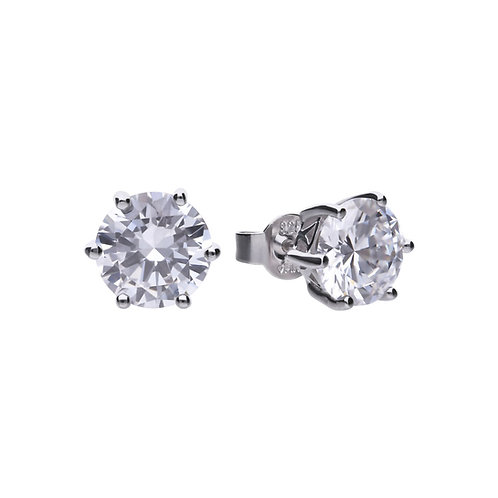 Claw Set 4ct Zirconia Solitaire Earrings