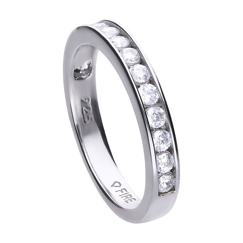 Channel Bezel Set Zirconia Ring