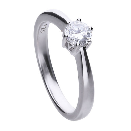 Claw Set 0.5ct Zirconia Solitaire Ring