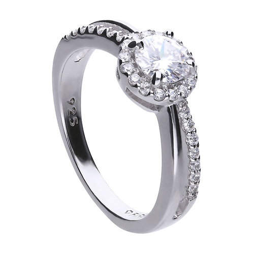 Solitaire Split Band Ring