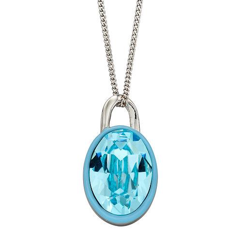 Fiorelli Preciosa Crystal Necklace with Enamel Border