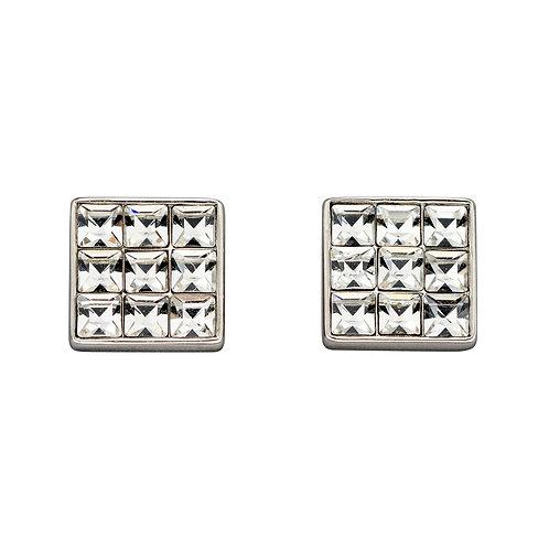 Fiorelli Crystal Set Square Earrings