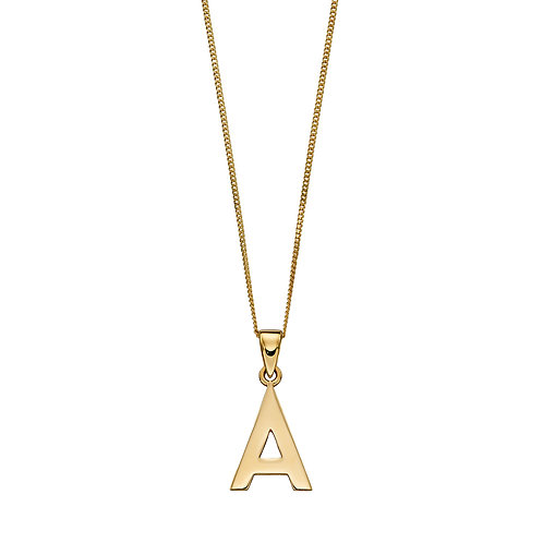 9ct Gold A-Z Initial Necklace