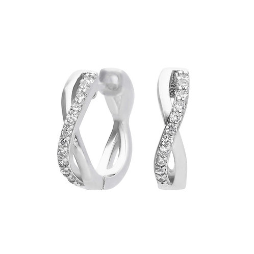 Infinity Pave Zirconia Hoop Earrings