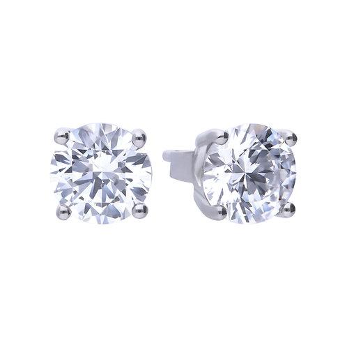 4 Claw Set 2ct Zirconia Stud Earrings