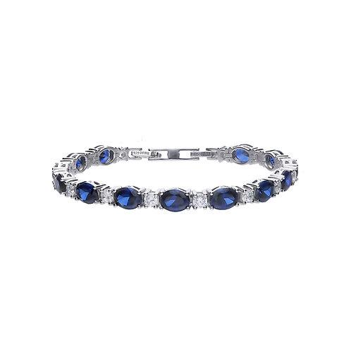 Sapphire Blue Zirconia Tennis Bracelet