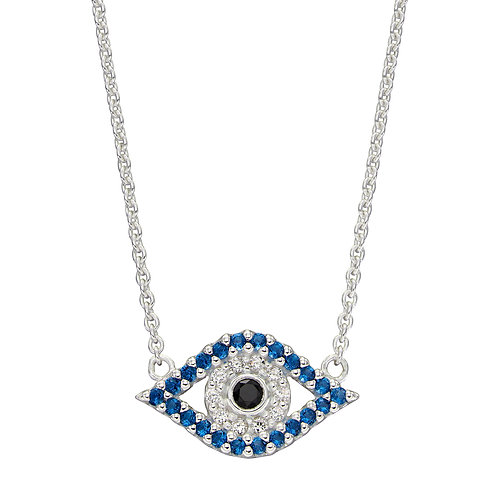Evil Eye Necklace with Crystal