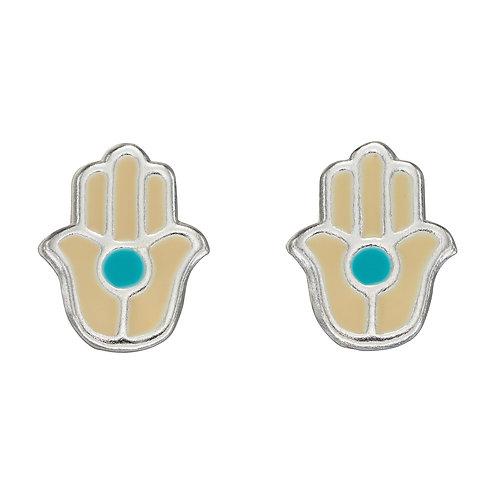 Hand Enamel Stud Earrings