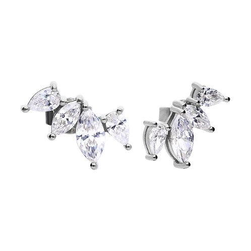 Marquise Crawler Earrings