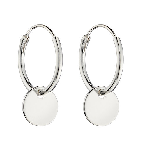 Small Disc Assembled Hoop Earrings