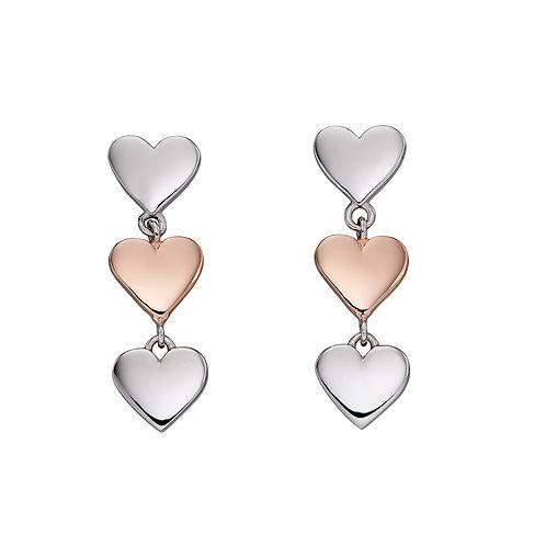 Fiorelli Mixed Metal Heart Drop Earrings