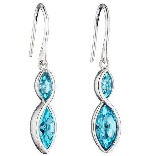 Fiorelli Crystal Navette Twist Earrings