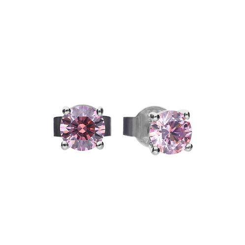 Pink Zirconia Stud Earrings