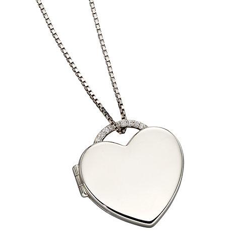 Fiorelli Heart Locket with Cubic Zirconia