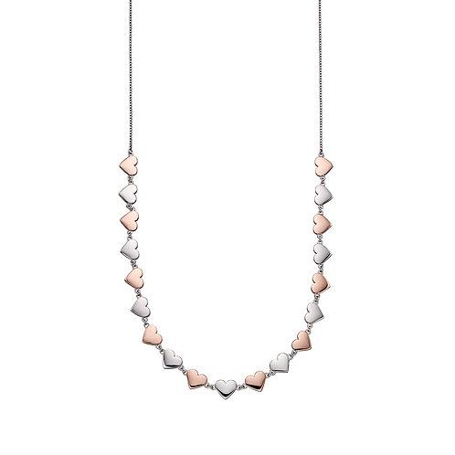 Fiorelli Mixed Metal Heart Collar Necklace
