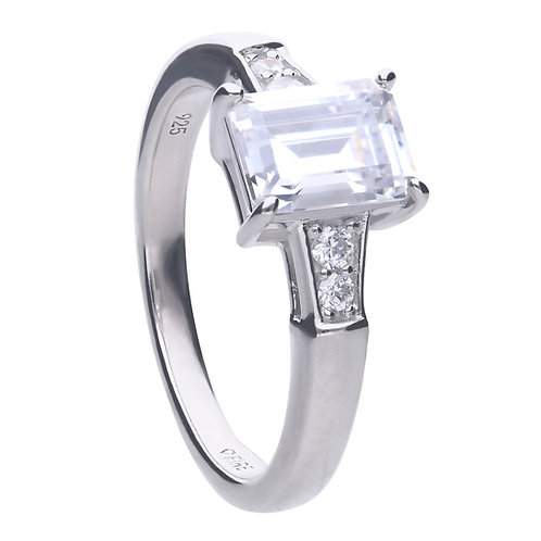 Emerald Cut Zirconia Ring
