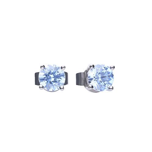 Blue Zirconia Stud Earrings