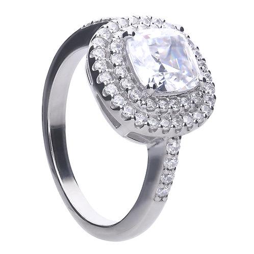 Double Halo Zirconia Ring