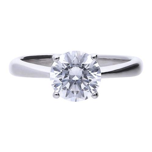 4 Claw Set 2ct Zirconia Ring