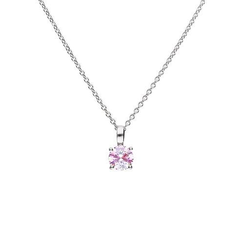 Pink Zirconia Necklace