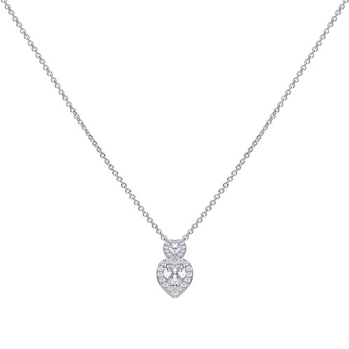 Vintage Style Double Heart Necklace