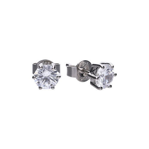 Claw Set 1.5ct Zirconia Solitaire Earrings