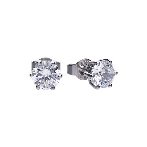 Claw Set 2ct Zirconia Solitaire Earrings