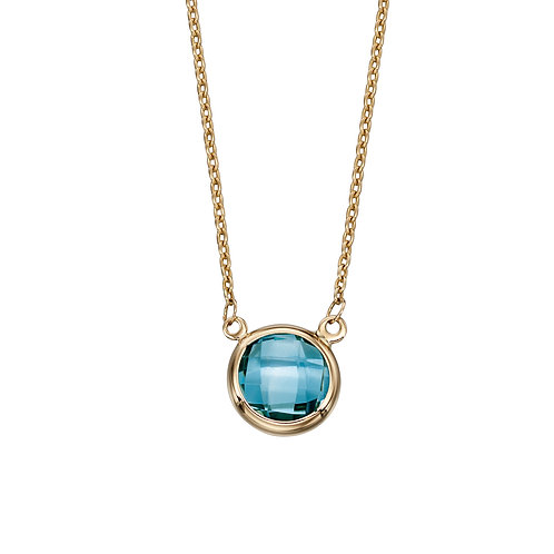 9ct Yellow Gold Necklace with Semi-Precious Stone