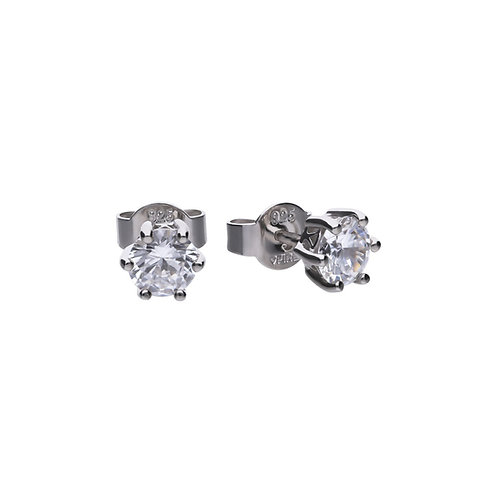 Claw Set 1ct Zirconia Solitaire Earrings