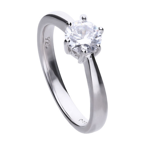 Claw Set 1ct Zirconia Solitaire Ring