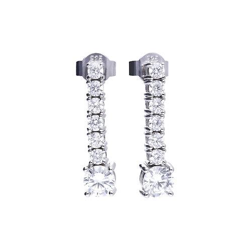 Claw Set Zirconia Drop Earrings