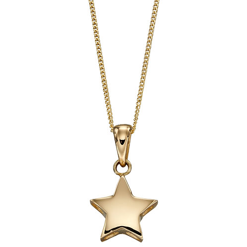 9ct Yellow Gold Star Necklace