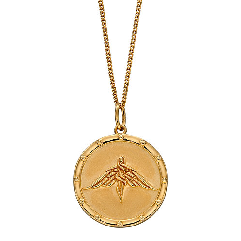 Fiorelli Freya Goddess Gold Plated Medallion Necklace