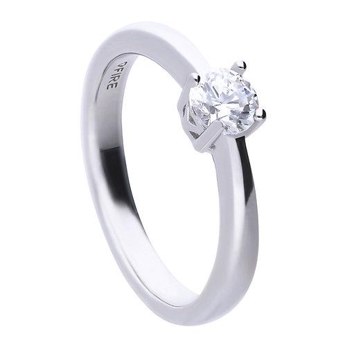 4 Claw Set 0.5ct Zirconia Ring
