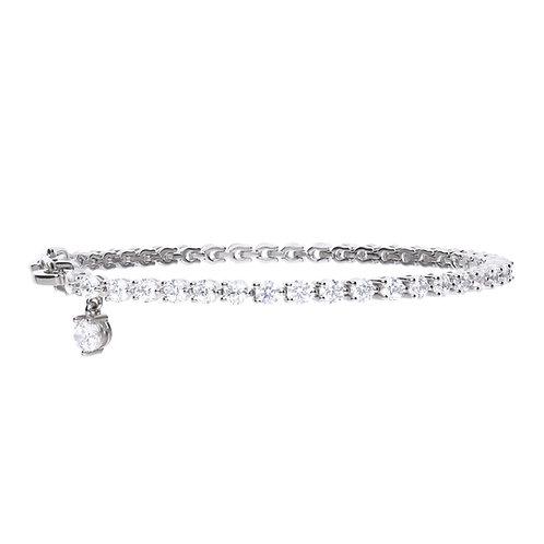 Small Zirconia Charm Tennis Bracelet