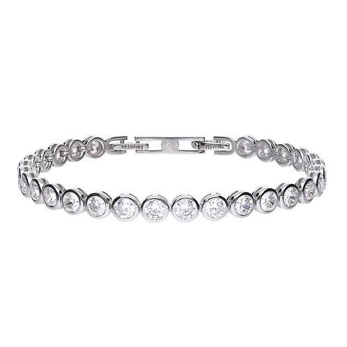 Bezel Set Zirconia Tennis Bracelet