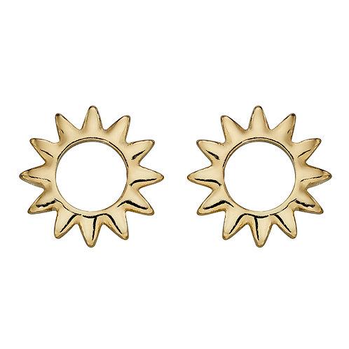 Open Sun Stud Earrings
