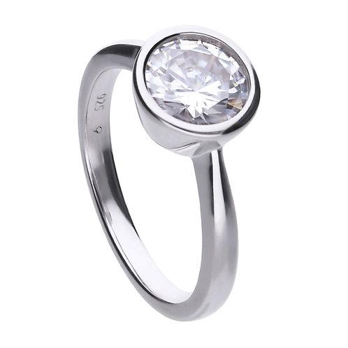 Bezel Set 2ct Zirconia Solitaire Ring