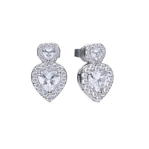 Vintage Style Double Heart Earrings