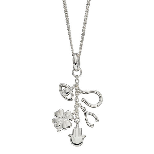 Sterling Silver Lucky Charm Necklace