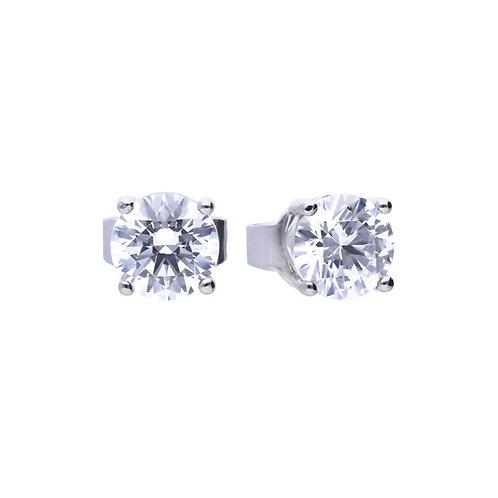 4 Claw Set 0.75ct Zirconia Stud Earrings