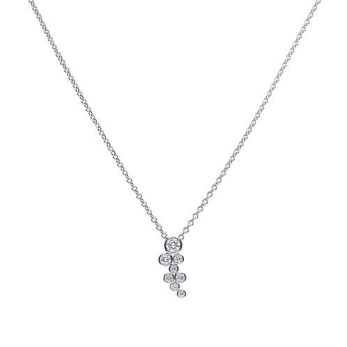 Bubble Style Zirconia Necklace
