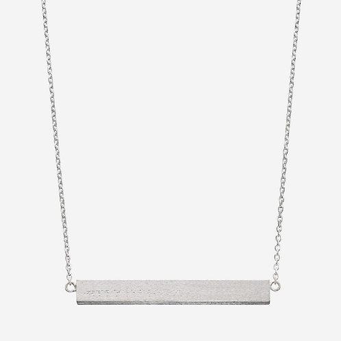 Satin Finish Horizontal Bar Necklace
