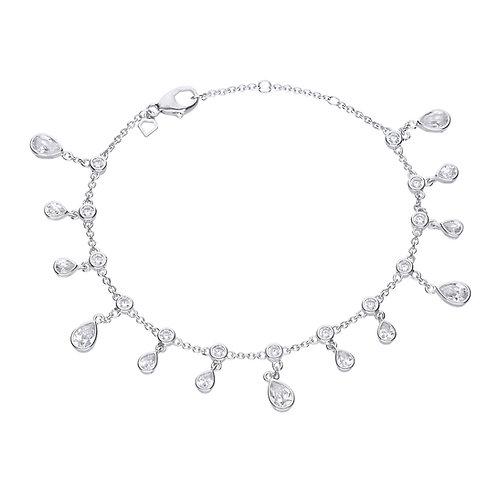 Multi Zirconia Stone Drop Bracelet