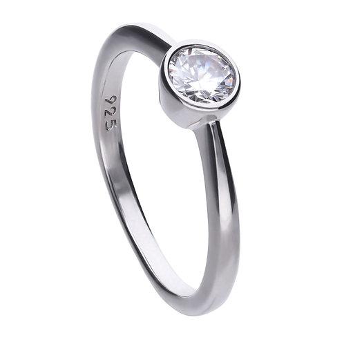 Bezel Set 0.5ct Zirconia Solitaire Ring