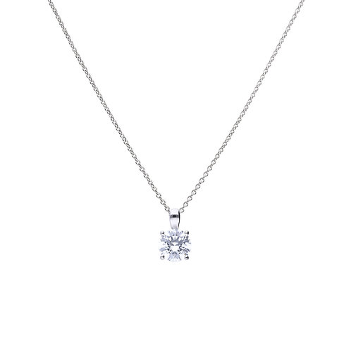4 Claw Set 2ct Zirconia Necklace