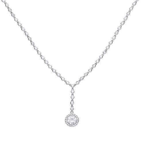 Y-Collier Cluster Necklace
