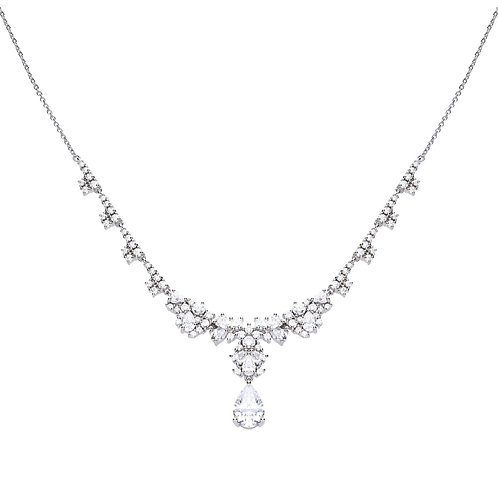 Drop Stone Cocktail Necklace
