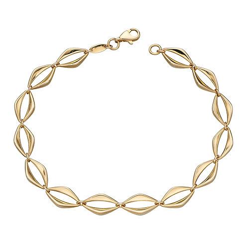 Open Eye Link Bracelet in 9ct Yellow Gold