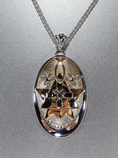 Talismano AIXOXIA Argento 925 Millesimi - Placcato Oro con Catenina
